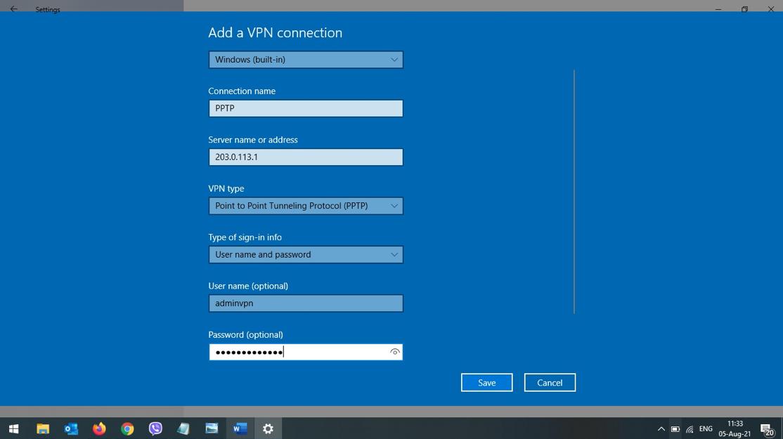 Hướng dẫn cấu hình VPN Client to site với PPTP trên EdgerRouter