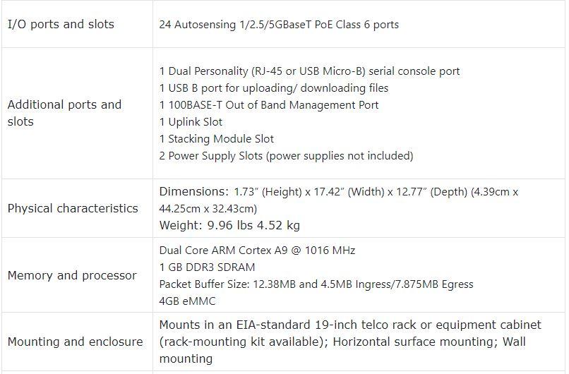 Aruba 2930M 24 Smart Rate POE Class 6 1-slot